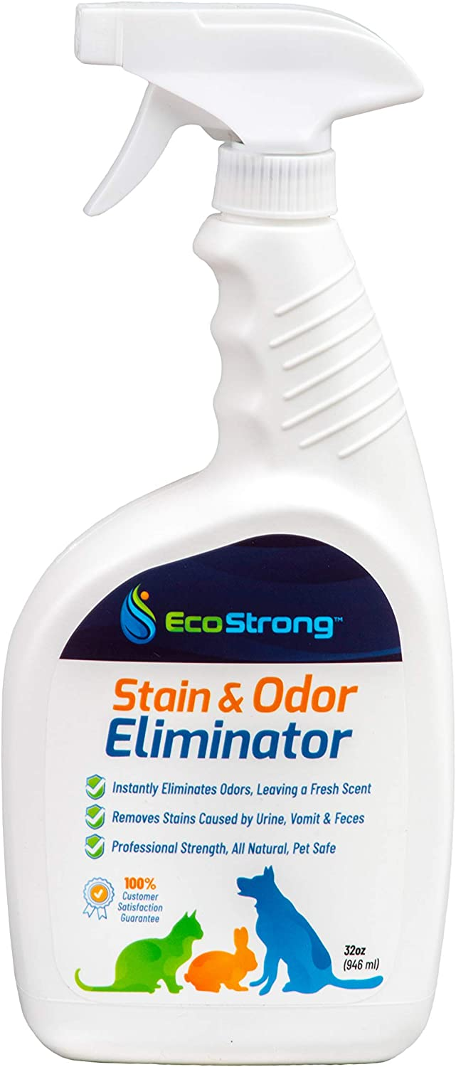 Eco Strong Pet Stain and Odor Remover - Powerful Enzyme Urine Eliminator Cleaner for Cats-Dogs