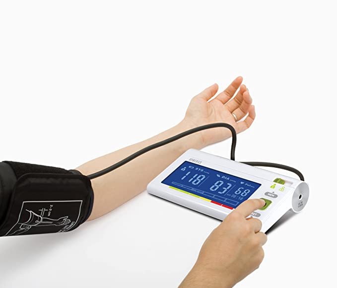 Homedics BPA-3000 Medición de la presión, medición de la hipertensión, hipotensión y latido, indicador de latido cardíaco irregular (arritmia), ...
