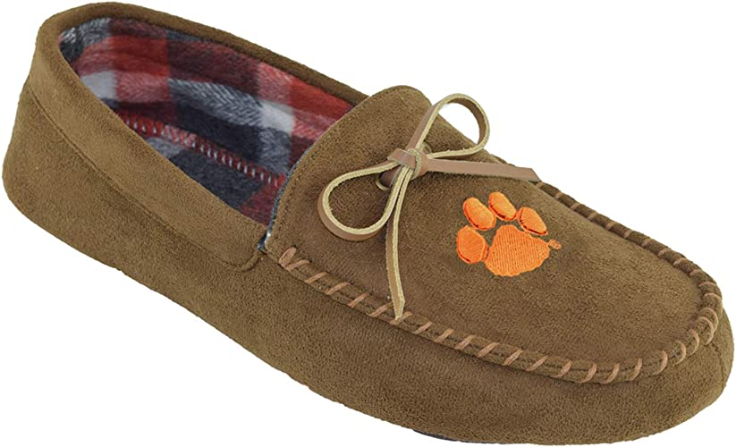 NCAA College Mens Team Logo Moccasin Slippers Shoe Pick Team