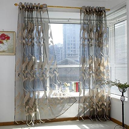 Coloré(TM) Décoration de Fenêtre Rideaux Voilages Rideaux en Voile ...