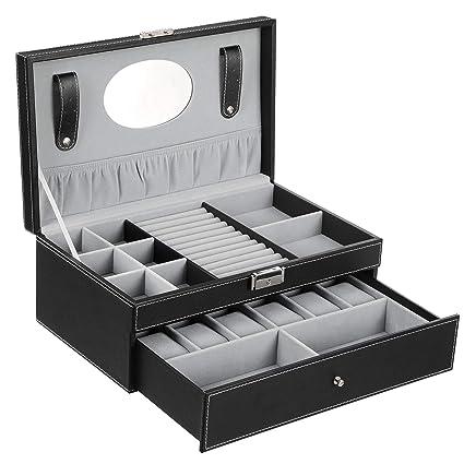 SONGMICS Caja Joyero Caja de Almacenamiento JWB11B