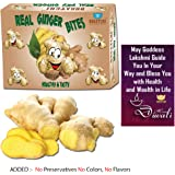 Bogatchi Dried Real Ginger Bites Happy Diwali Gift Pack, 200g with Free Diwali Greeting Card