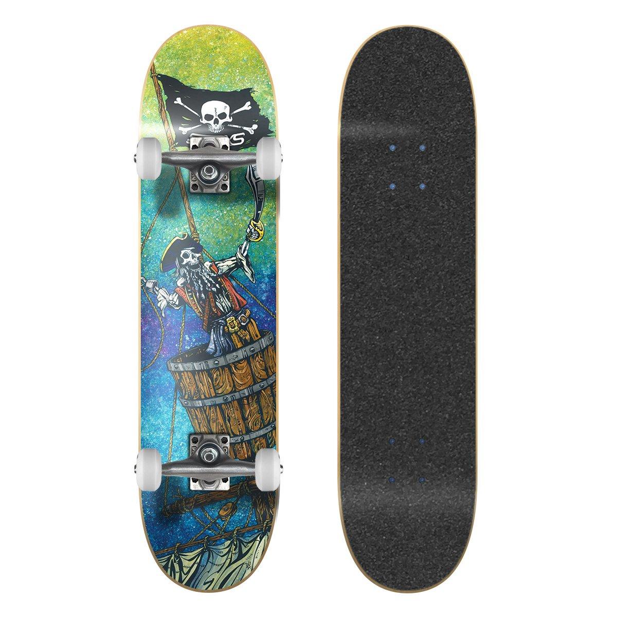 SkateXS Beginner Pirate Street Skateboard by SkateXS