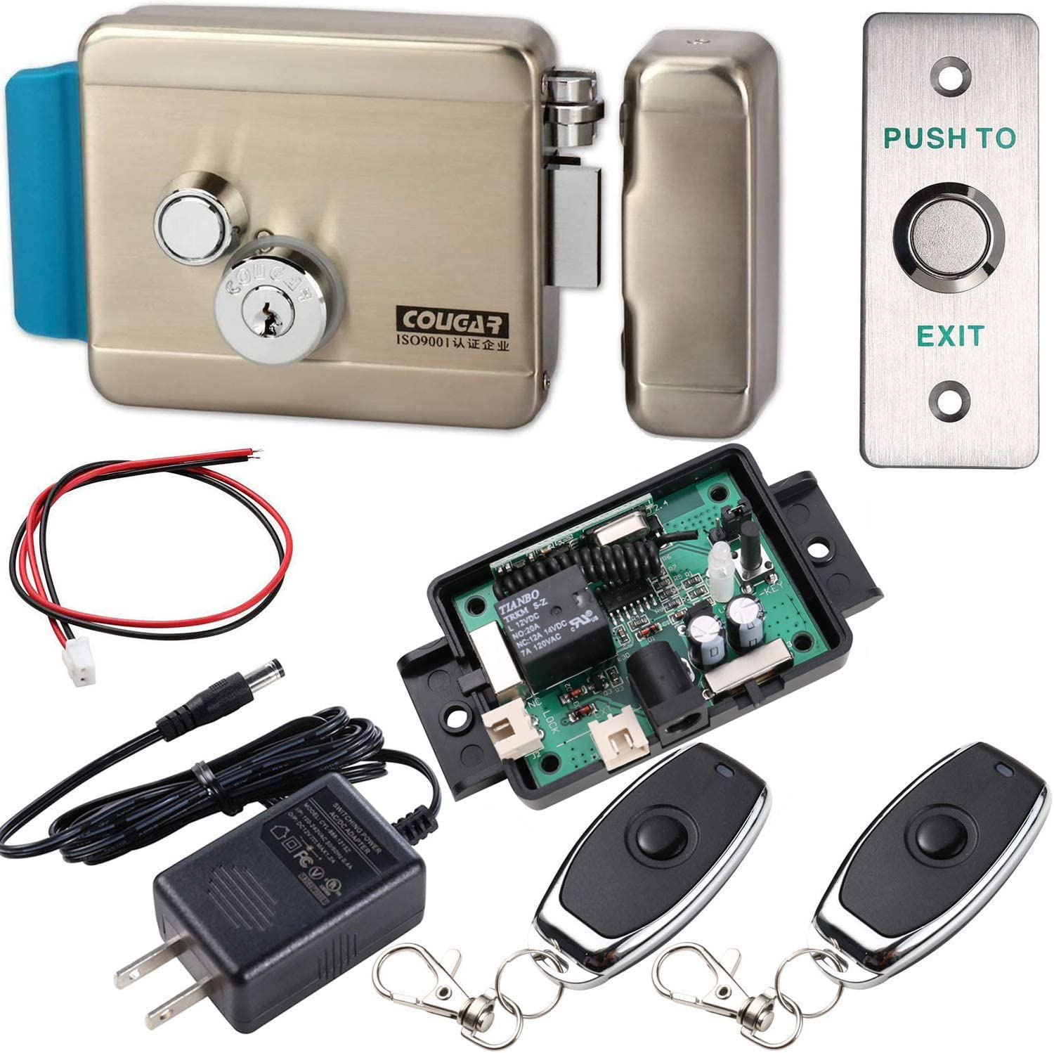 Electric Gate Lock And Wireless Remote Control Home & Kitchen