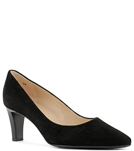 9fcead9882779 Peter Kaiser Mani Classic Semi-Pointed Mid Heel Court Shoes in Black Suede   Amazon.co.uk  Shoes   Bags