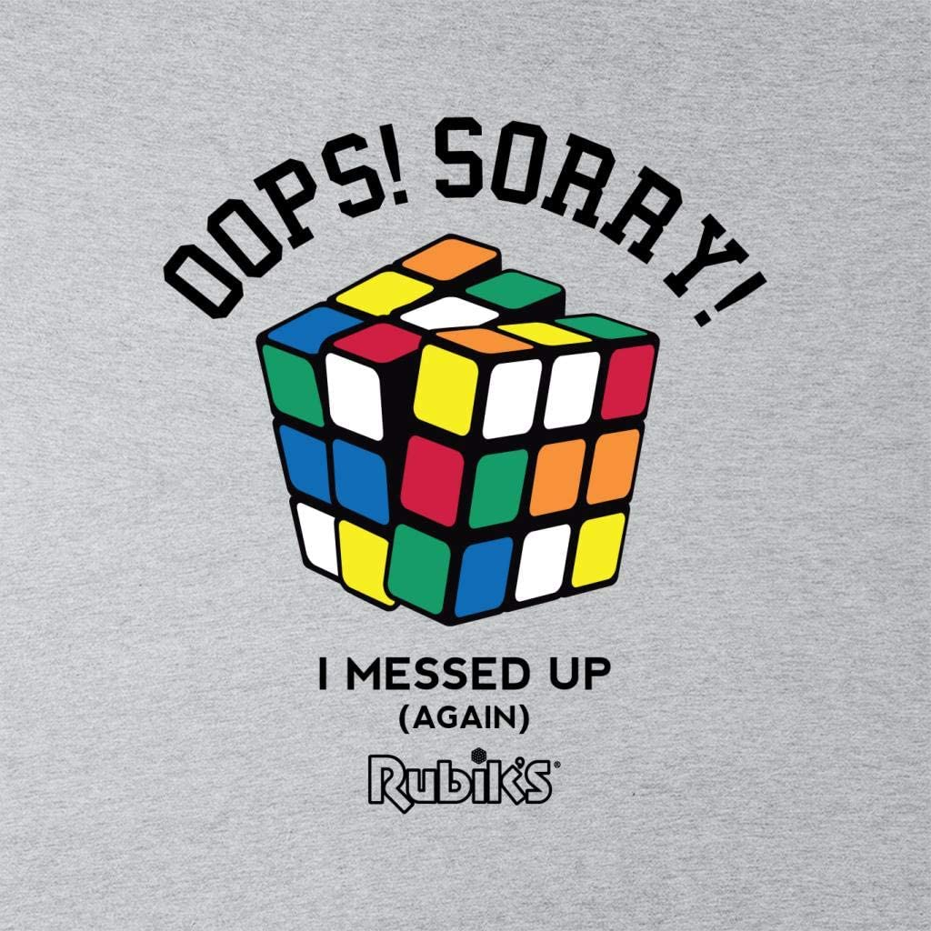 Rubiks Oops Sorry I Messed Up Mens Sweatshirt