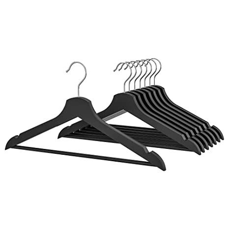 Ikea Hanger Wood Clothes Coat 8 Pack Black Bumerang