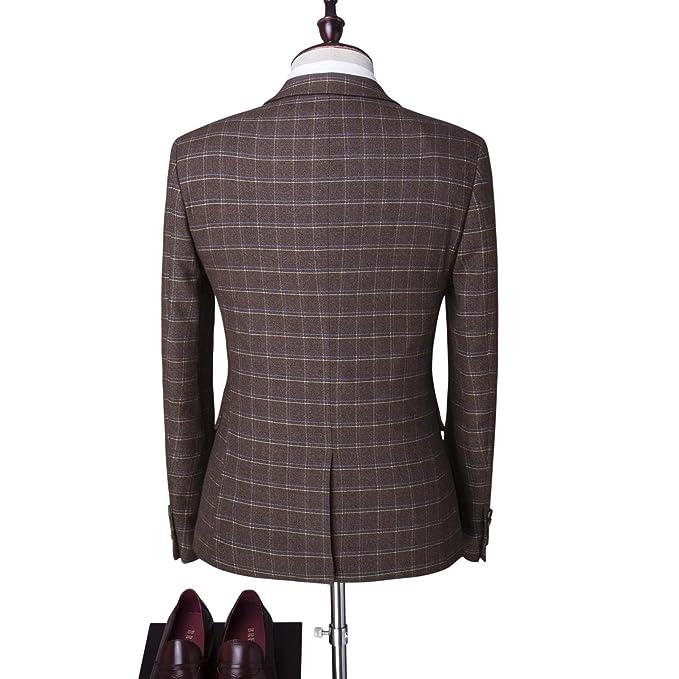 Traje para hombre 3 piezas chaqueta chaleco pantalón traje al estilo  occidental  Amazon.es  Ropa y accesorios 8b860bef06f