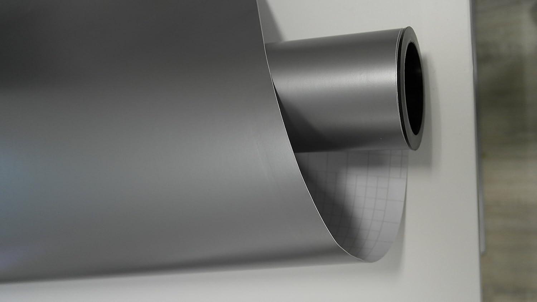 vinie Silber Grau Matt Autofolie 500x152cm Blasenfrei mit Luftkan/äle Gratis Montageanleitung 5,39/€//1qm