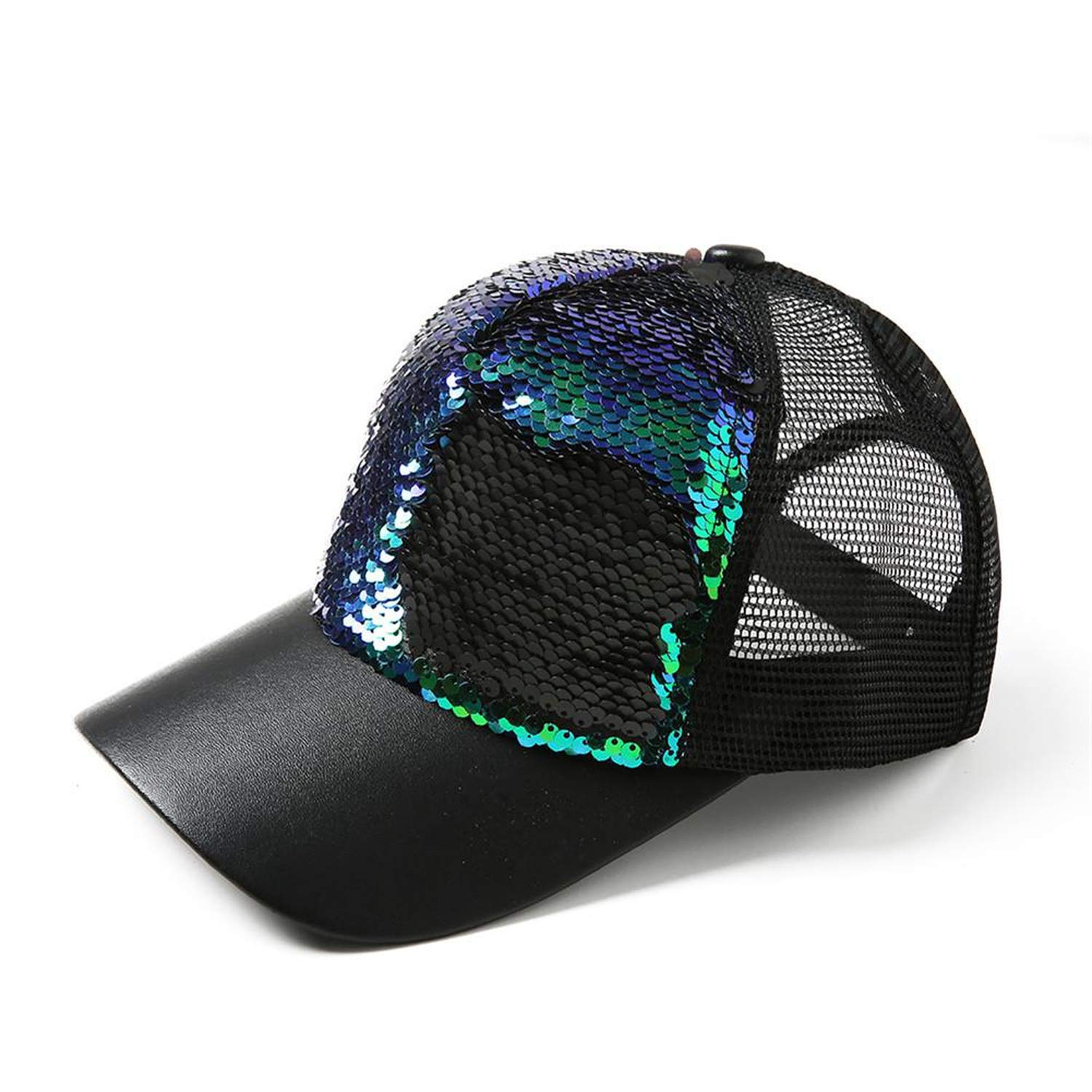 Amazon.com: LONIY 2019 New Sequins Paillette Bling Shinning Mesh Baseball Cap Striking Pretty Adjustable Women Man Hats Black: Clothing