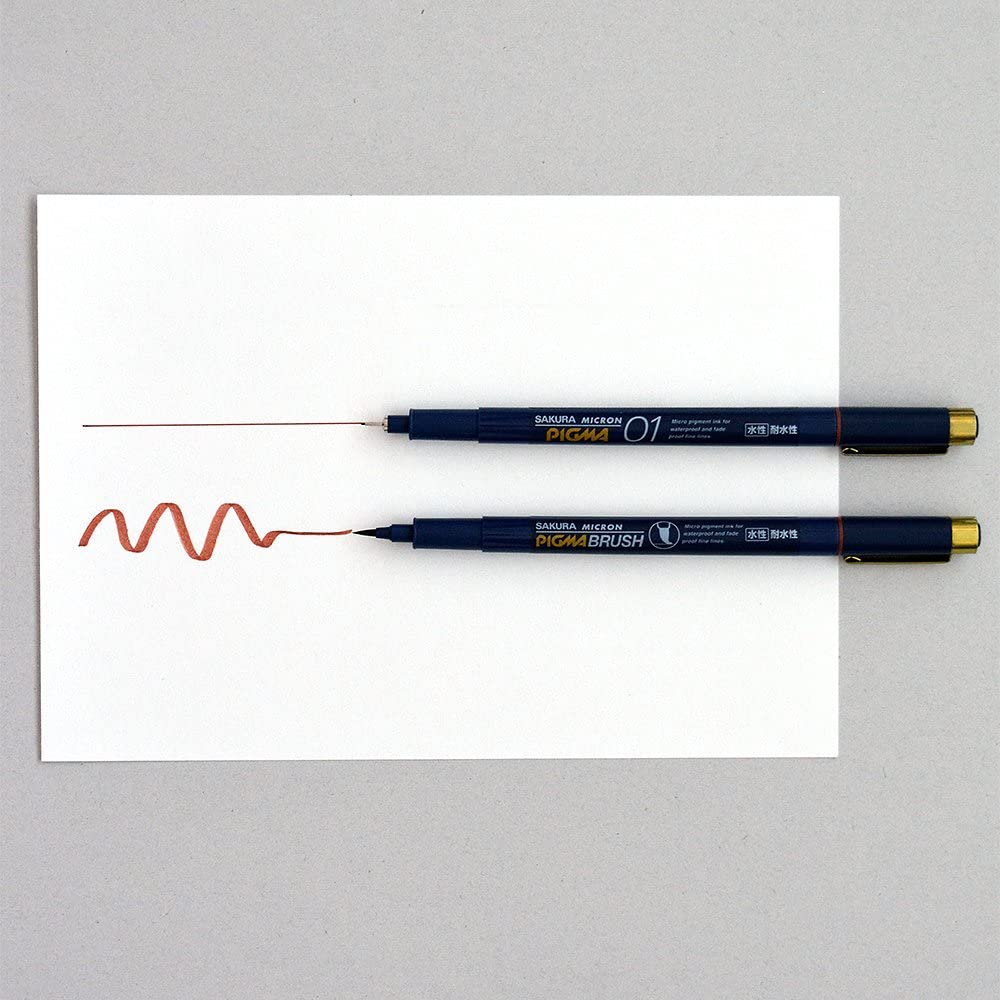 Sakura Pigment Ink Pen Pigma Micron 01 Brown ESDK01#12