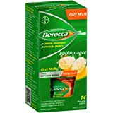 Berocca Fizzy Melts Energy Vitamin Orange Fresh Chewable Tablets 14 pack, Orange Fresh