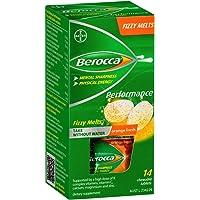 Berocca Fizzy Melts Energy Vitamin Orange Fresh Chewable Tablets 14 pack, Orange Fresh
