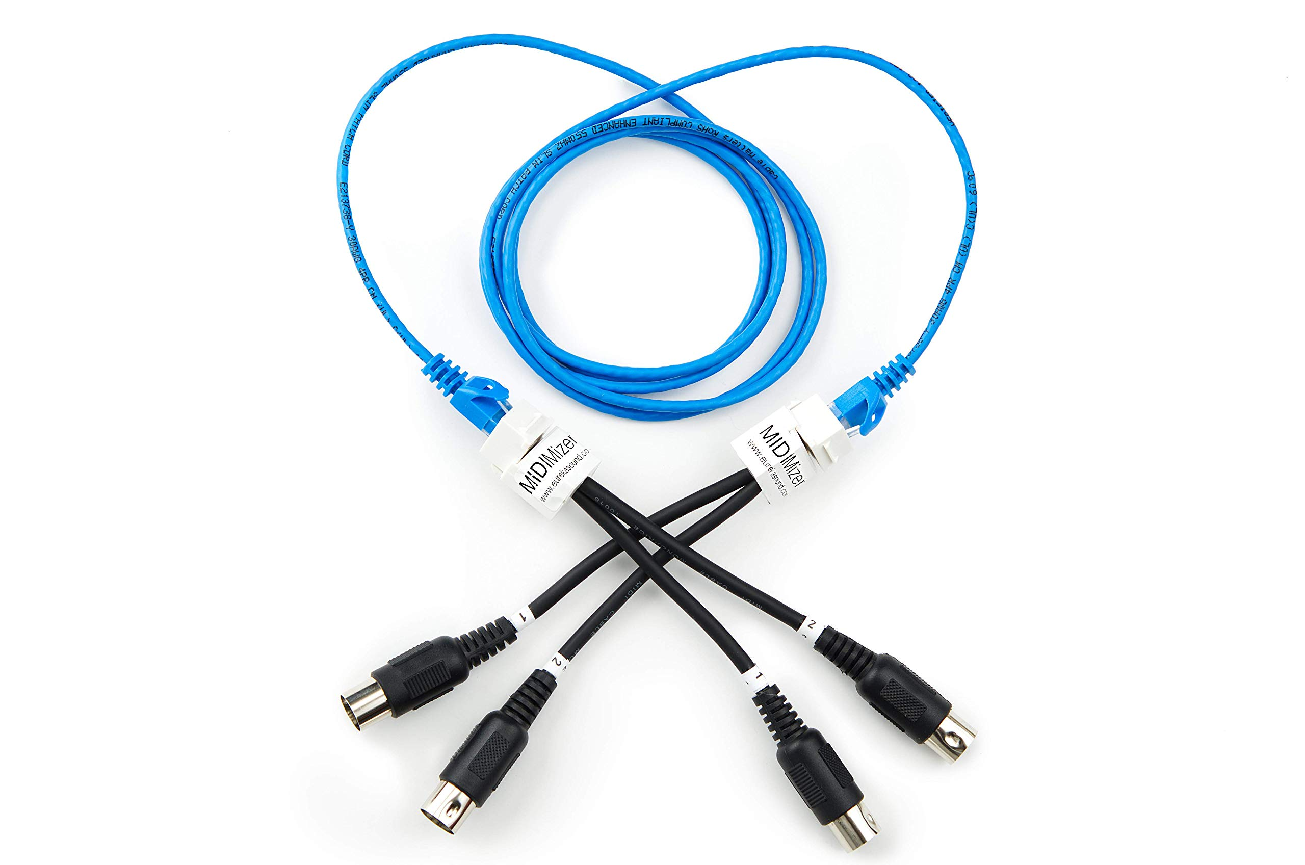 MIDIMizer - dual MIDI Cable to CAT5 adapter by EurekaSound LLC