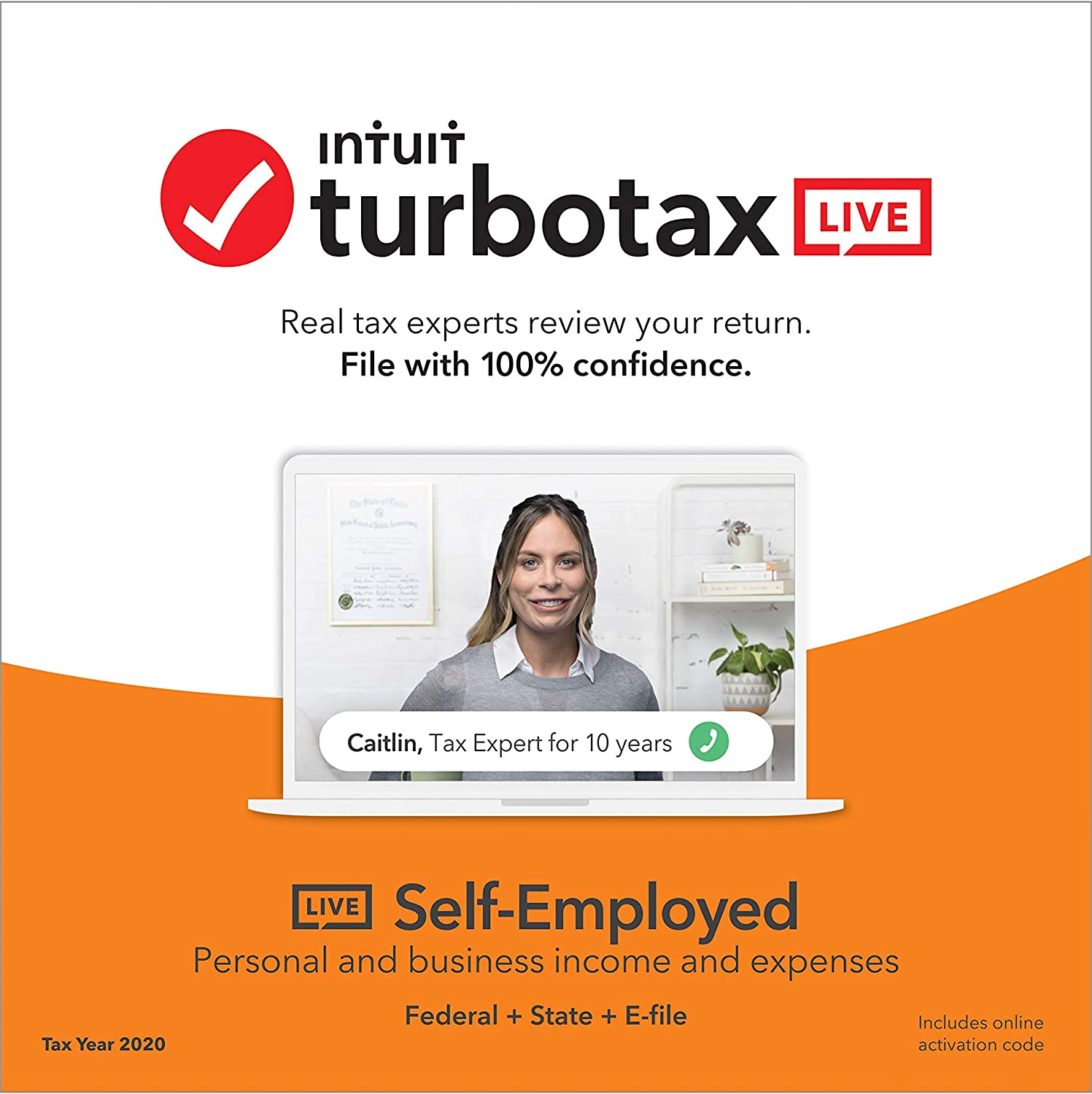 TurboTax LIVE Self-Employed 2020 (Browser-Based version includes Federal, State, both e-files, and unlimited tax advice from real tax experts)