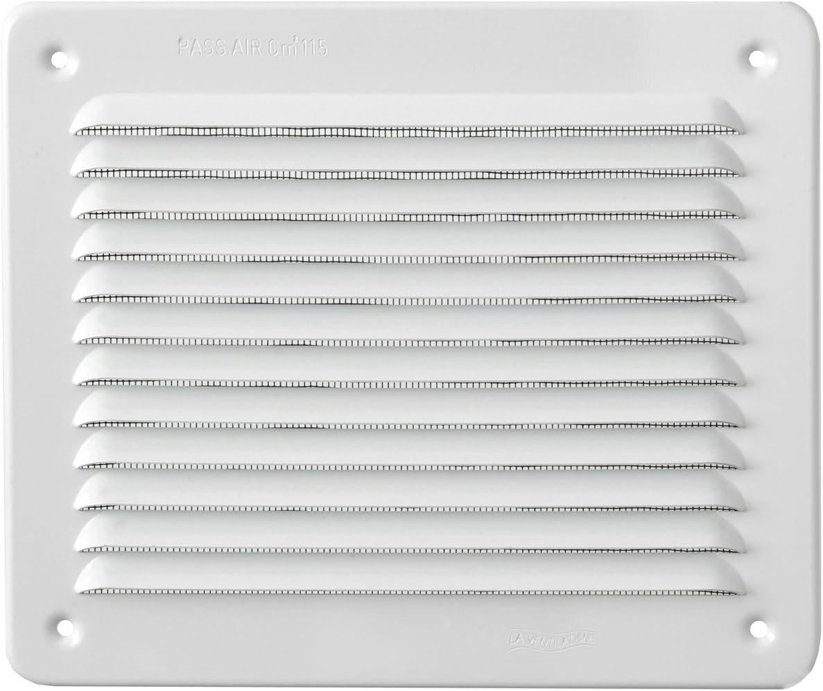 aluminio blanco La ventilaci/ón lbr1916ab-y Rejilla rectangular de superponer