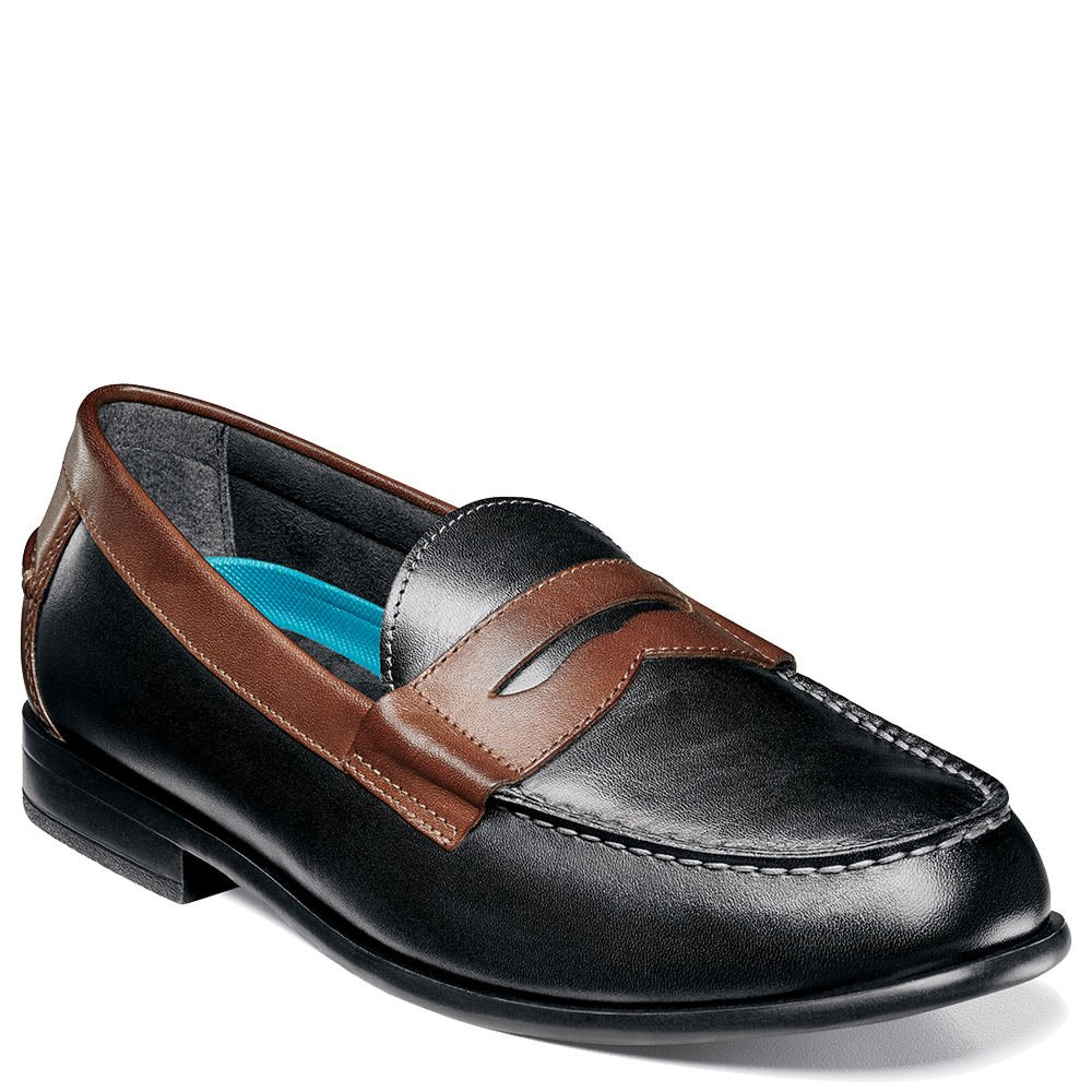 Nunn Bush Men's Drexel Loafer, Black/Brown, 9.5 Wide US