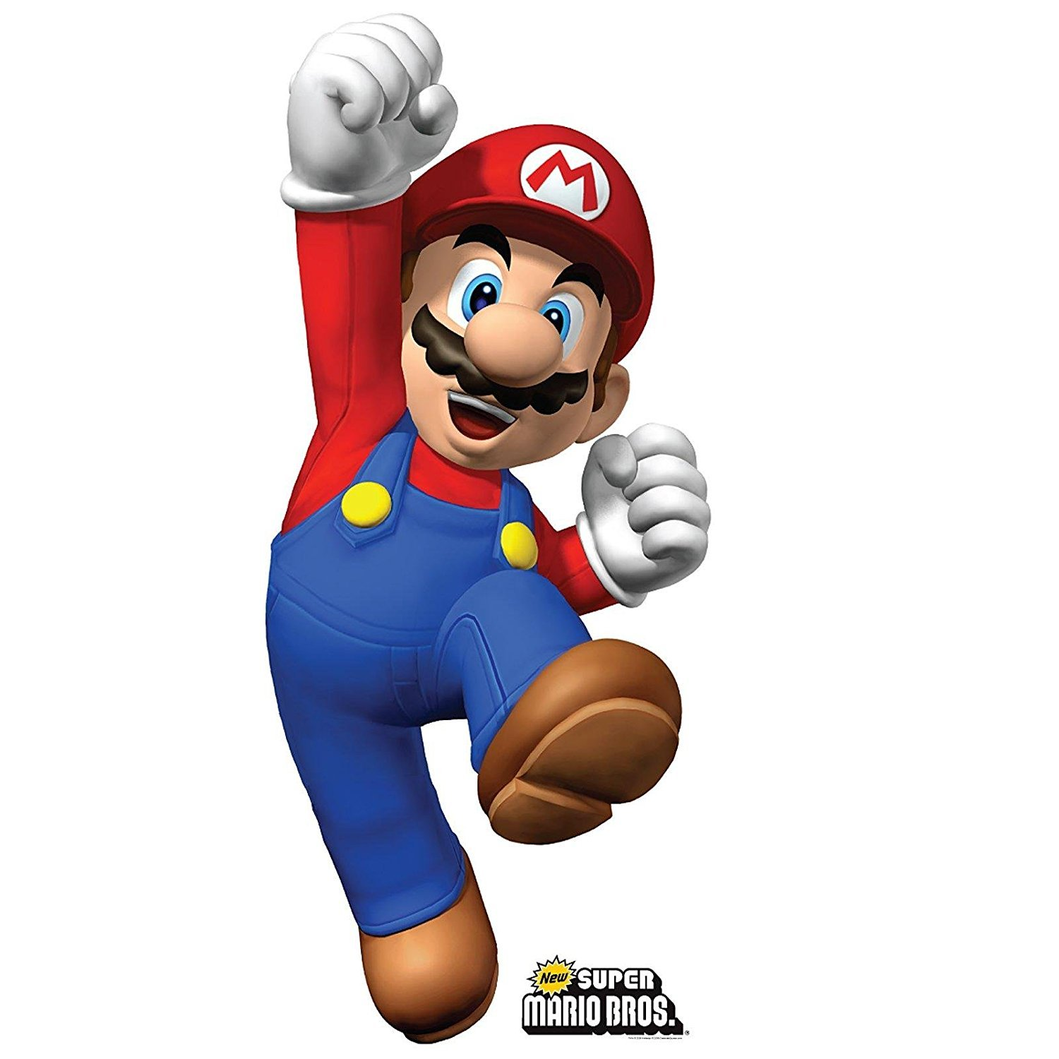 Amazon.com: Super Mario Bros Room Decor – Mario Life Size ...