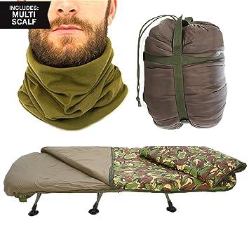 Saco de dormir Snugpak FORTIS TechLite + free Merino calcetines. Verde o diseño de camuflaje, verde oliva: Amazon.es: Deportes y aire libre