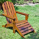 International Caravan Adirondack Lounger Chair with Footrest For Sale