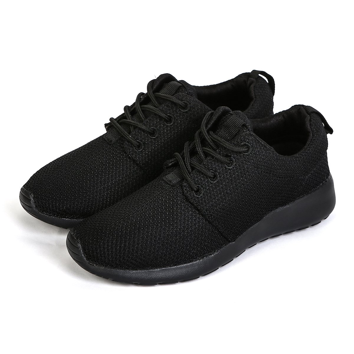 ZGR Women's Mens Unisex Mesh Lightweight Running Shoes Casual Walking Athletic Breathable Fashion Sneakers Black Size US9(W)