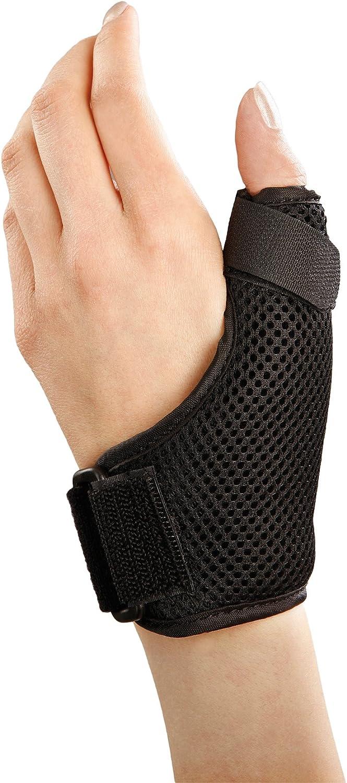 Muñequera y pulgar - Proporciona un excelente apoyo para la artritis de muñeca y pulgar, artrosis basal del pulgar, rizartrosis, tendinitis del pulgar y lesiones de pulgar como esguinces de pulgar - D