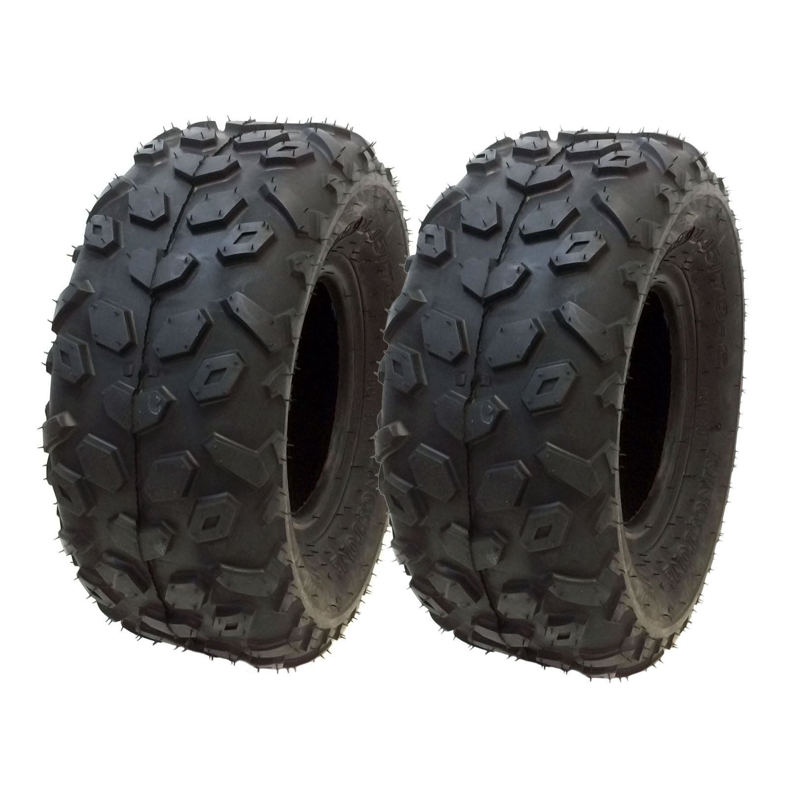 SET OF TWO: ATV Tubeless Tires 145x70-6 (14.5x7x6) P120 - Front or Rear - for RED CAT, SUNL, SUZUKI, VENTO, Small ATV w 6'' Rims