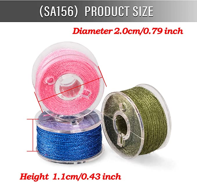 SA156 igingko 36Pcs Bobbins and Sewing Thread with Clear Storage Case for Brother Singer Babylock Janome Kenmore Embroidery Thread Sewing Thread Machine DIY Assorted Colors