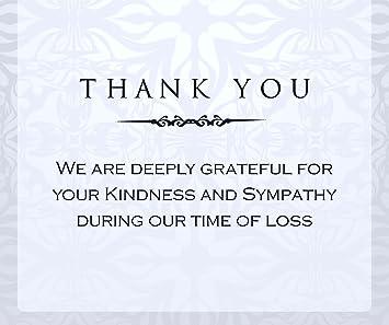 memorial thank you cards
