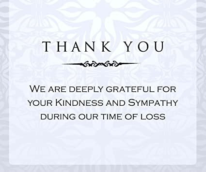 Amazon Com 20 Celebration Of Life Funeral Thank You Cards With