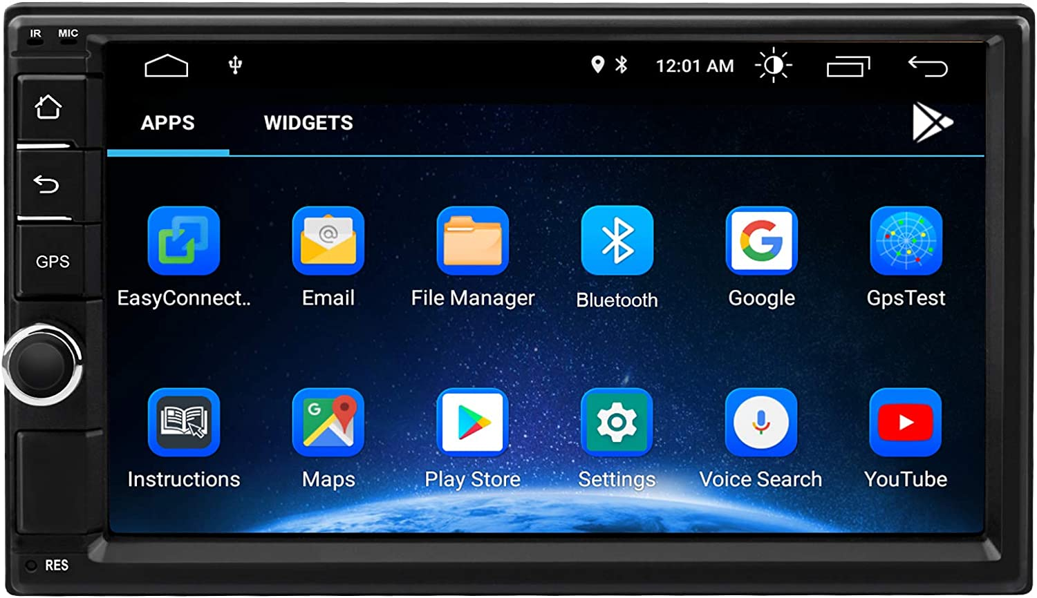 Double Din Android Bluetooth Car Stereo,7 Inch Car Multimedia Radio Touch Screen Player,Car Audio Navigation Radio Receiver,Support WiFi,USB,FM,Mirror Link,Video Output,Backup Camera (2G RAM 32G ROM)