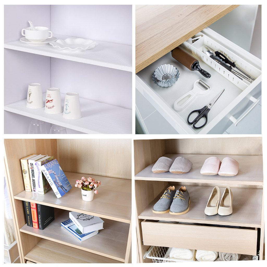 Kofun Drawer Liner Clear Drawer Liner Kitchen Cupboard Mat Cabinet Table Protector Non Slip Mats 30X150 Cm