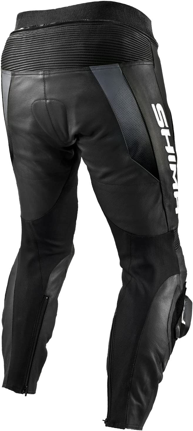 SHIMA STR TROUSERS RED Leather Motorbike Racing Perforated Sport Motorcycle Suit Sizes: 46-56 pants