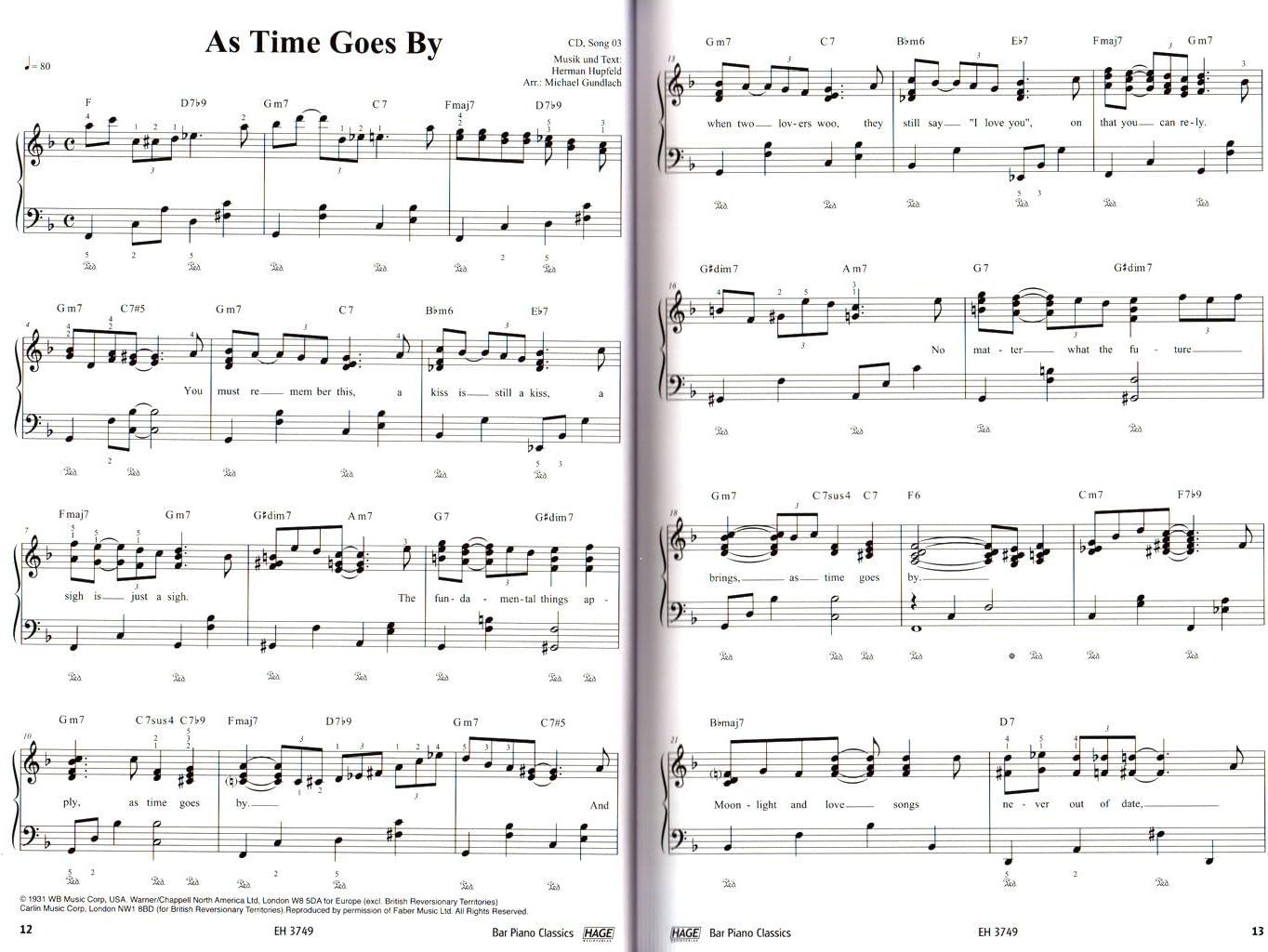 Bar Piano Classics – 20 famosos Canciones – Fácil hasta medio ...