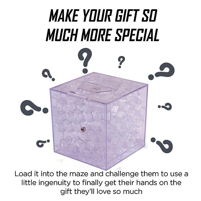 Dinero laberinto teenitor® Puzzle caja de un giro divertido en regalos de cumpleaños y otras fiestas; Los laberinto cerebro burla en forma de panal para ...