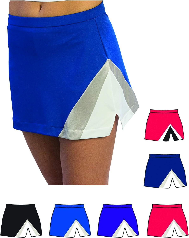 Pizzazz Red White Cheer Uniform Skirt Girls 6-8