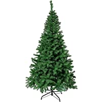 Herron Christmas Tree Artificial Premium Spruce Hinged Xmas Tree with Metal Stand for Indoors&Outdoors(4ft)