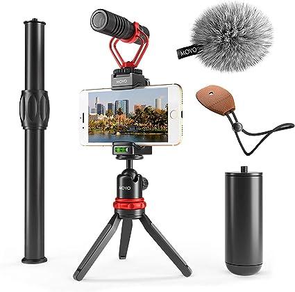 Movo - Llave de vídeo para smartphone con mini trípode extensible ...
