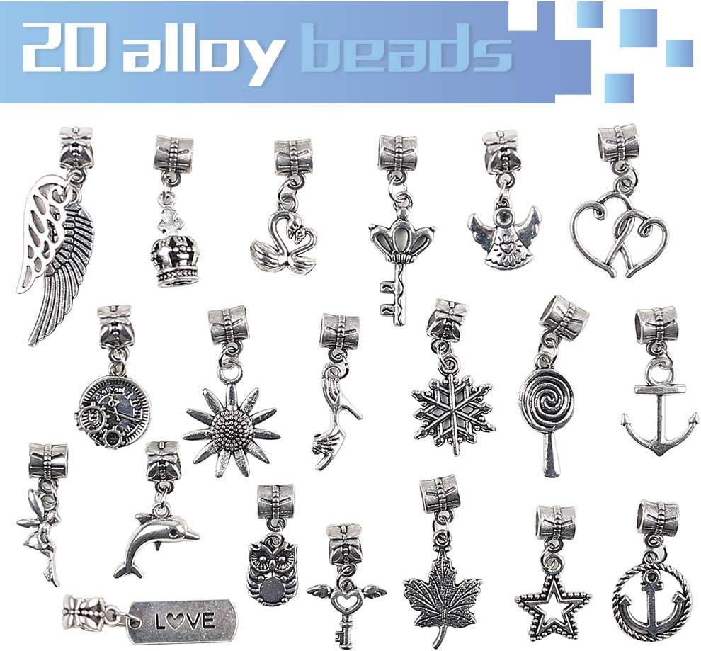 VGOODALL Charm Armband Kit DIY Schmuck Bastelset Handwerk Perle /überzogen mit Silber Kette M/ädchen Geschenke Armband Bastelset f/ür M/ädchen
