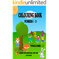 COLOURING BOOK - NUMBERS (1-20)- 123 - KIDS UNLIMITED JOY
