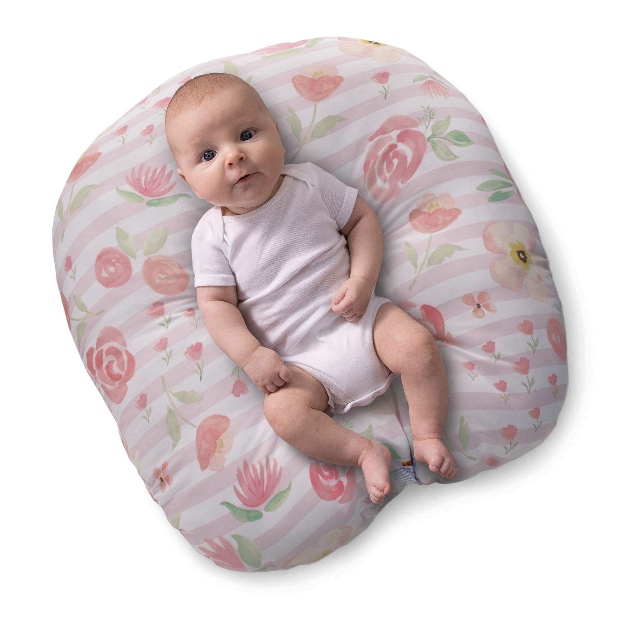 Amazon.com : Newborn Lounger Cover Removable Cover 100% Soft Cotton Cute Flower : Baby