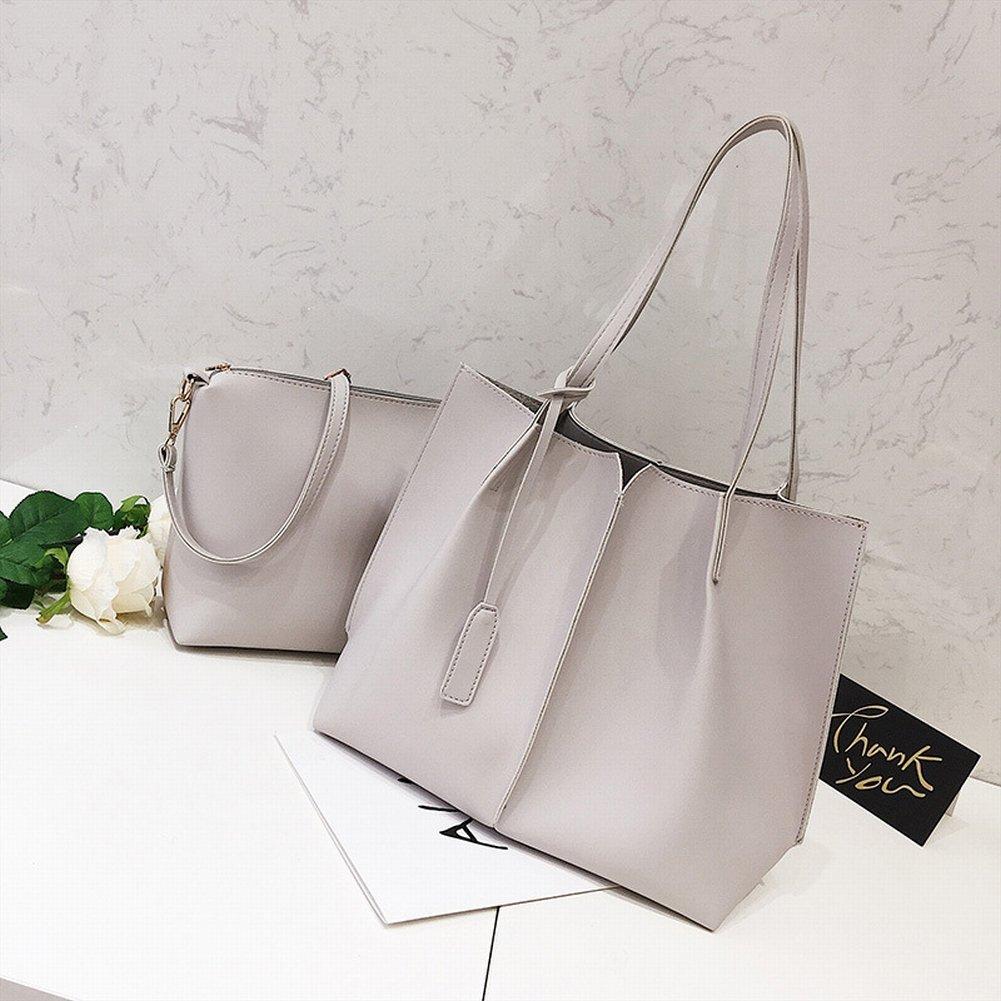YTTY Brötchen-Paket Einfaches Weibliches Paket Praktisches Allgleiches Beiläufige Handtasche, hellgrau