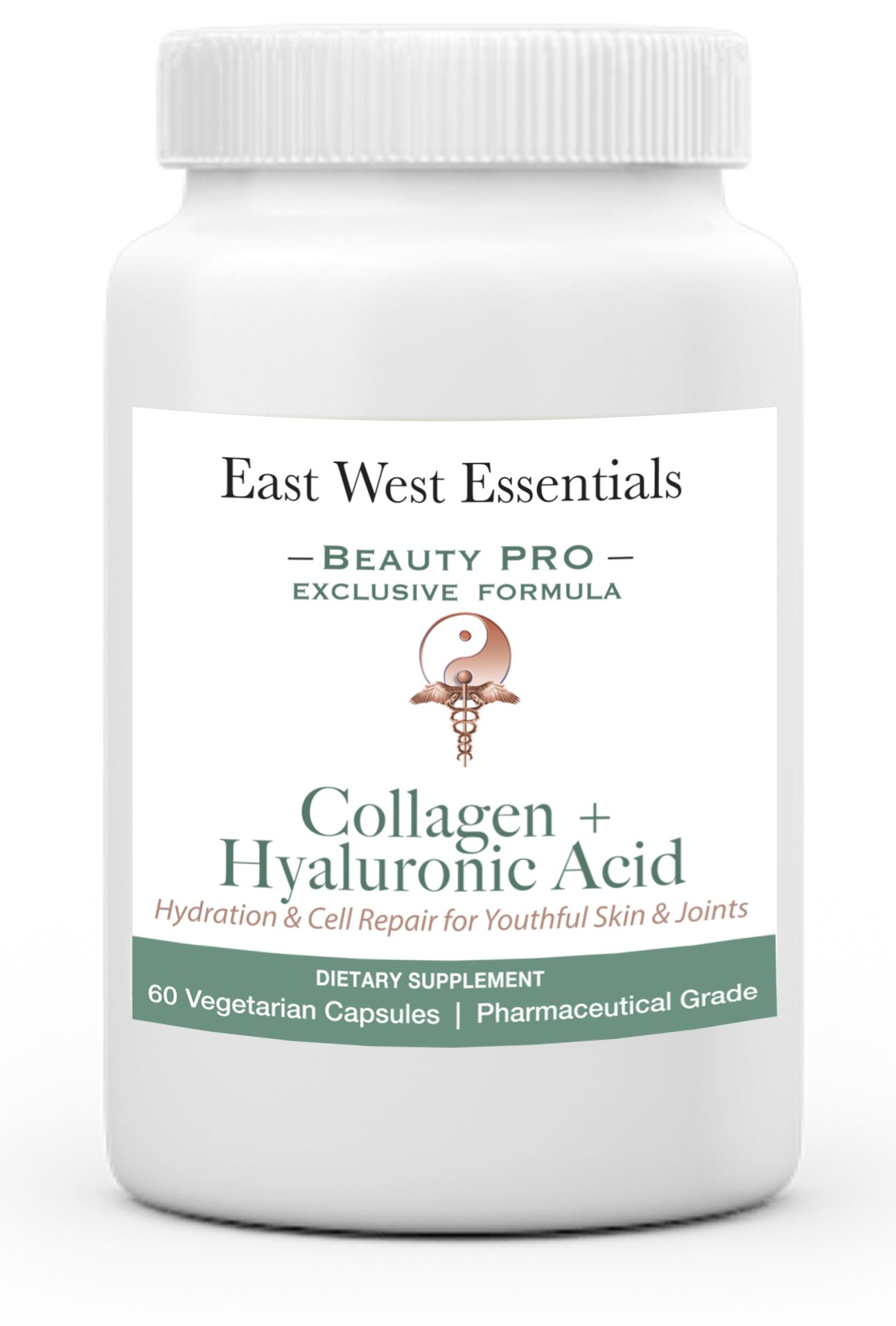 Optimal Collagen + Hyaluronic Acid by East West Essentials - Stimulates Cell Repair - Reduce Dry Skin - Improve Joint Mobility