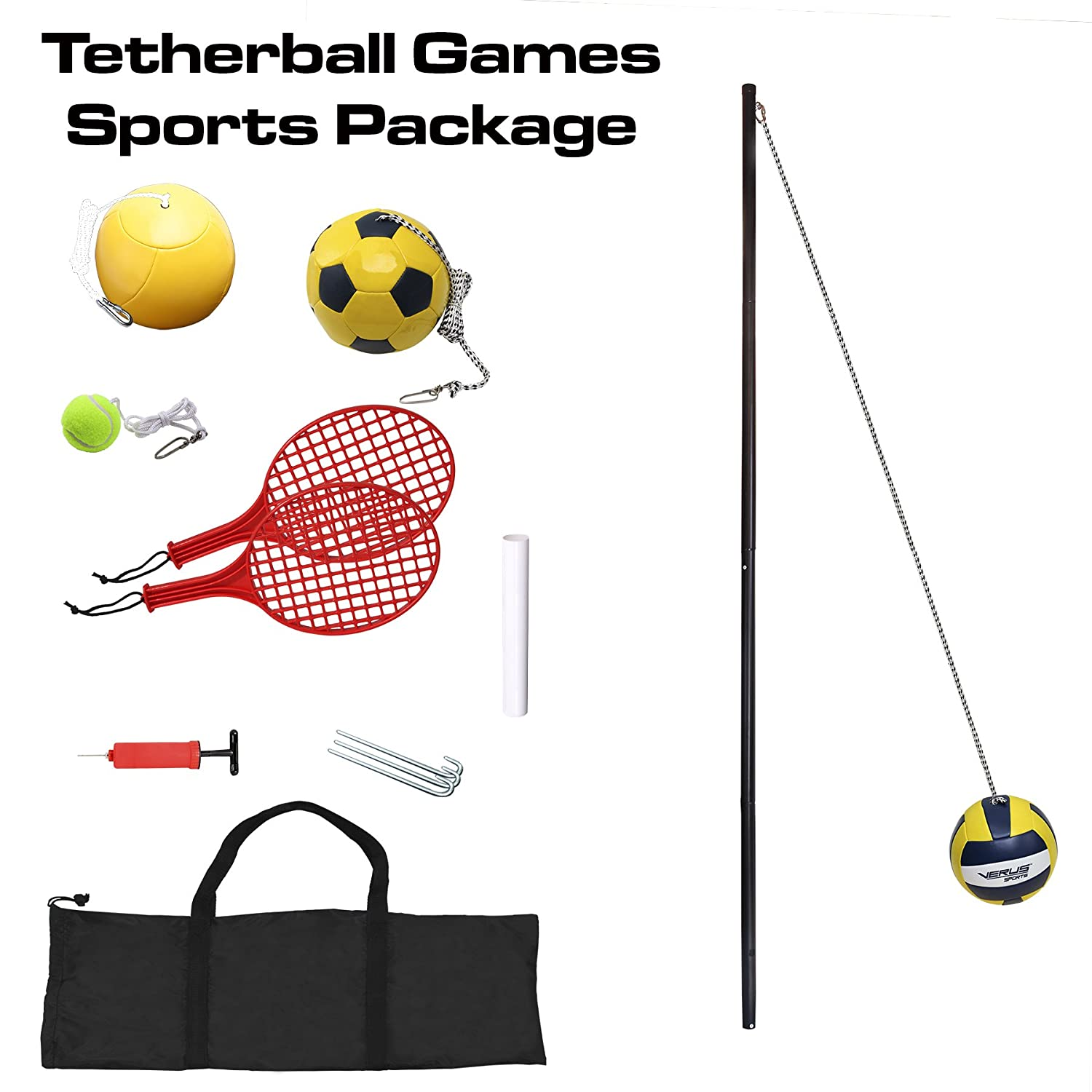 Verus Sports in-Ground 3-in-1 Tetherball Set Inc. TO400