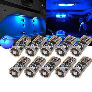 TUINCYN T10 Bombillas LED Cuña Azul 3030 3SMD Super Brillante Coche Interior Domo Lectura Luces de