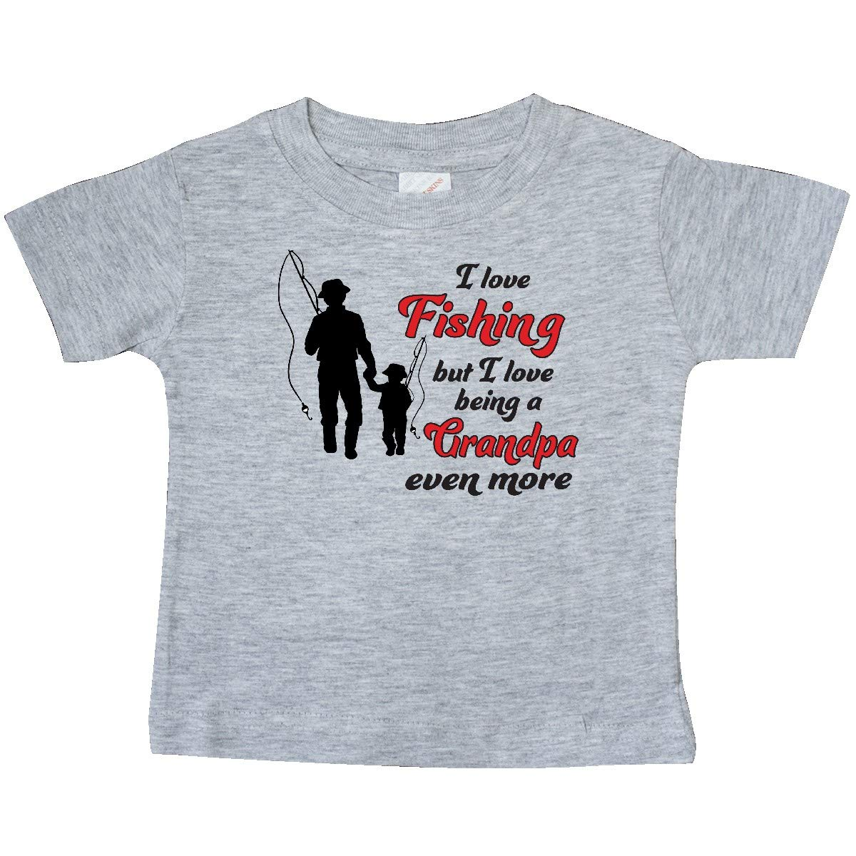 inktastic I Love Fishing But I Love Being a Grandpa Even More Baby T-Shirt