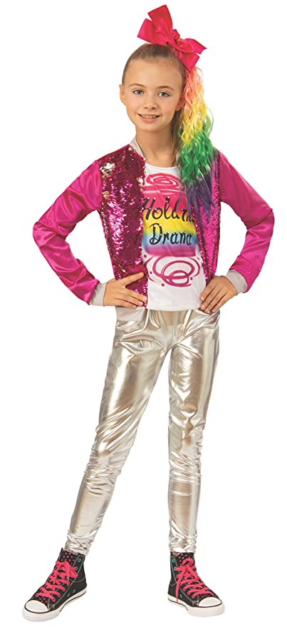 e712016a4032e Image Unavailable. Image not available for. Color: Rubie's JoJo Siwa Child's  Hold The Drama Costume ...