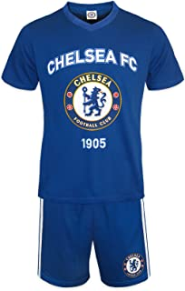 Chelsea FC Official Football Gift Mens Short Pyjamas Loungewear