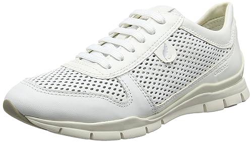 Geox D Sukie F, Zapatillas para Mujer, Blanco (White), 37 EU