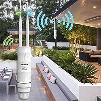 fivechoice Wavlink Répéteur Wi-FI étanche en extérieur CPE/WiFi Extendeur/Répéteur / Point d'accès/Routeur / WISP 2,4 GHz 150 Mbps + 5 GHz 433 Mbps Double Plomb 1000 MW 28 dBm Omnidirectionnel